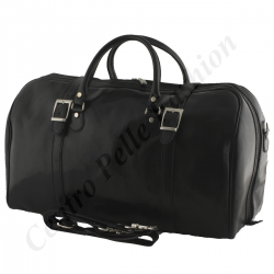 Leather Travel Bag - 0004 - Large - Luxury