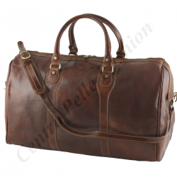 Leather Travel Bag - 6001 - Genuine Leather Bags