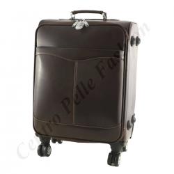Leder Trolley - 6006 - Reisetasche aus Leder