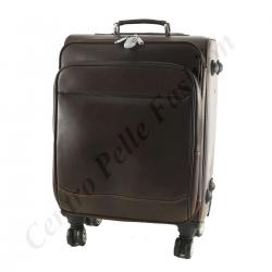 Leder Trolley - 6007 - Reisetasche aus Leder
