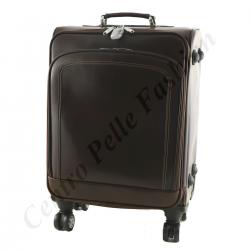 Leder Trolley - 6008 - Reisetasche aus Leder