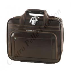 Leder Trolley - 6009 - Reisetasche aus Leder