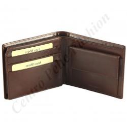 H027 - Herren Echt Leder Geldbörse