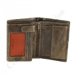Herren Echt Leder Geldbörse - 7141