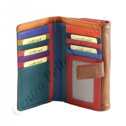 Damen Geldbörse aus Leder - 7111