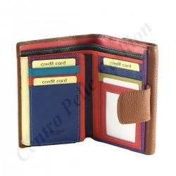 Damen Geldbörse aus Echtleder - 7122