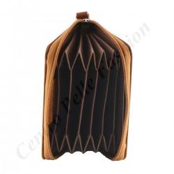 Echtes Leder Kartenhalter - 7037
