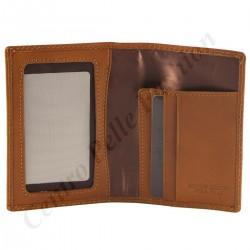 Kartenhalter aus Leder - 7039