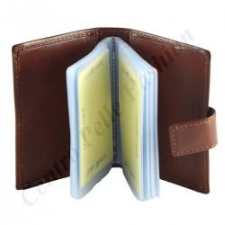 Kartenhalter aus Leder - 7089