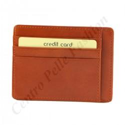 Echtes Leder Kartenhalter - 7092