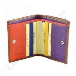 Leder Kartenhalter - 7107