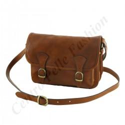 Damen Leder Taschen - 1007 - Leder Schultertasche