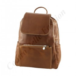 Leder Rucksack - 3009 - Echtes Leder Taschen