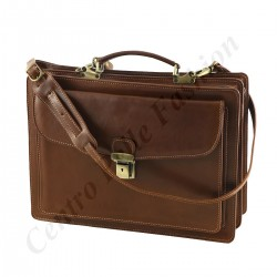 Aktentasche Leder - 4005 - Echtes Leder Taschen