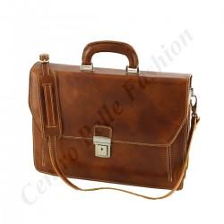 Leder Business Aktentasche - 4010 - Echtes Leder Taschen