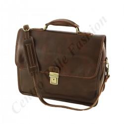 Aktentaschen Leder - 4006 -  Echtes Leder Tasche