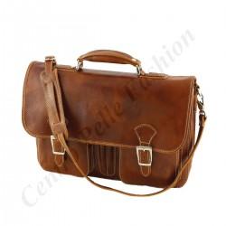 Business Leder Aktentaschen - 4004 - Echtes Leder Tasche