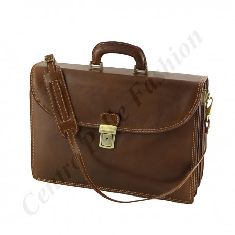 Leather Business  Briefcase - 4007 - Genuine Leather Bags