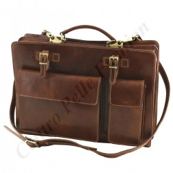 Leather Business  Briefcase - 4029 - Genuine Leather Bags