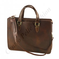 Leather Business Briefcases - 4031 - Genuine Leather Bags