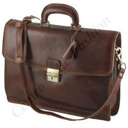 Leather Briefcase - 0014 - Luxury